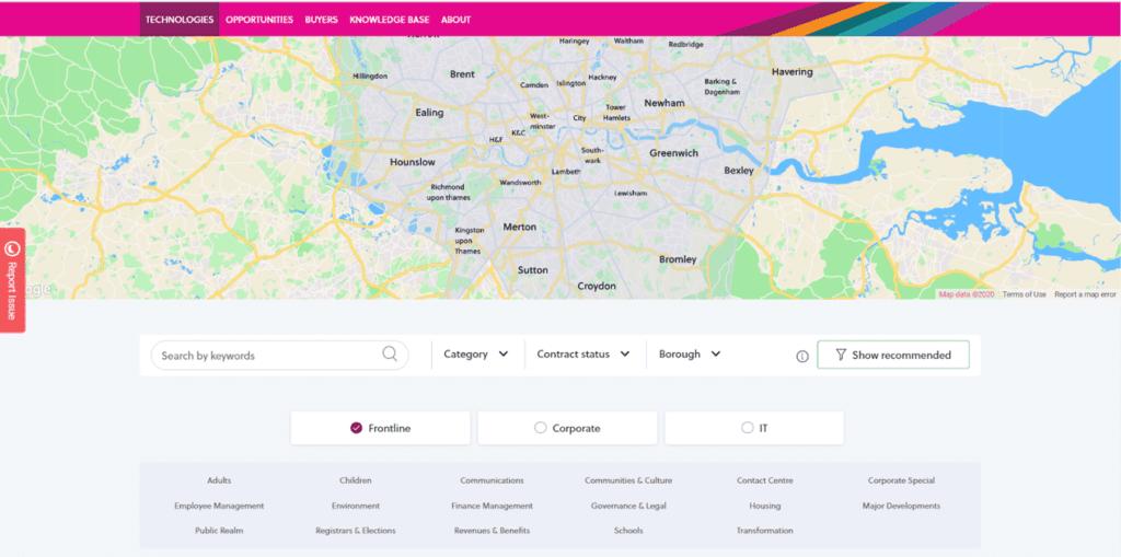 Screenshot of LOTI Thirty3 Platform