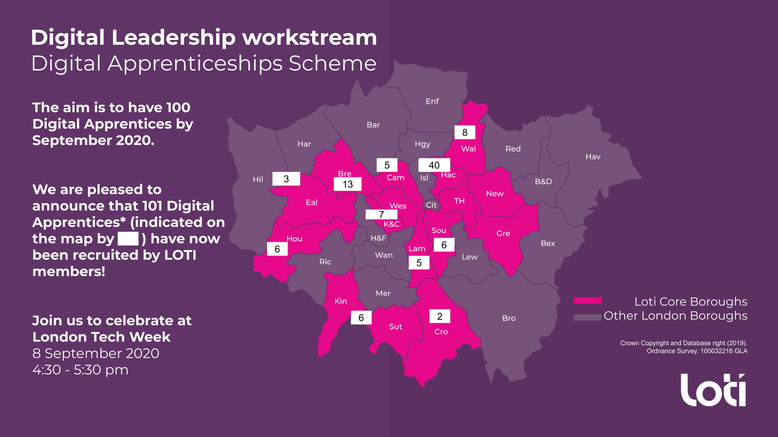 LOTI Digital Apprenticeships 100