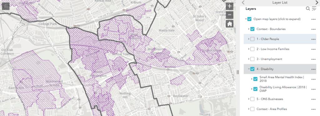 Digital Exclusion Map screen shot