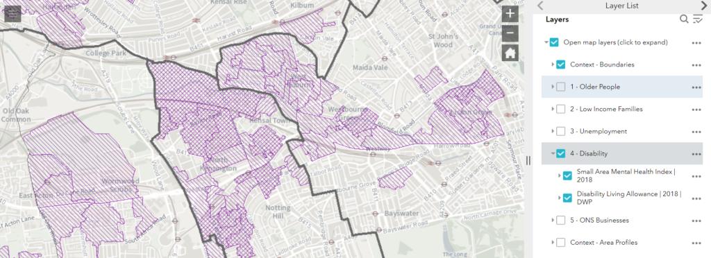 Mapping digital exlcusion screen shot