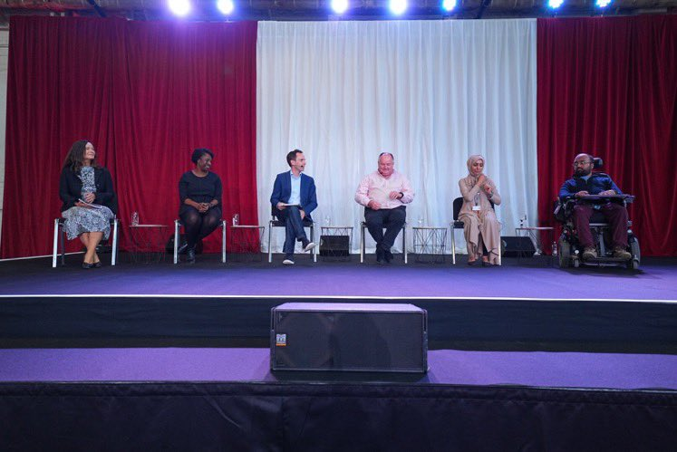 Photo of panel session at Newham Sparks